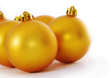 Yellow christmas ball Stock Images