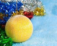 Yellow Christmas ball Royalty Free Stock Images