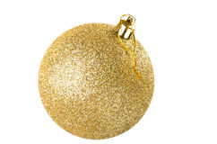 Yellow christmas ball Royalty Free Stock Photos