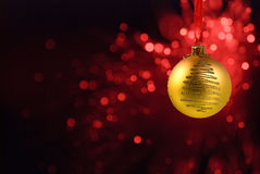 Yellow Christmas ball Stock Photography