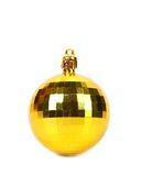 Yellow christmas ball isolated on white. Stock Photography