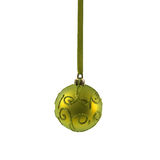 Yellow Christmas ball isolated on white background New Year Stock Images