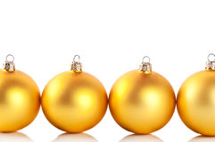 Yellow christmas balls Royalty Free Stock Image