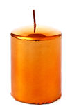 Yellow Christmas candle Stock Images