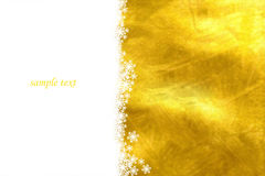 Yellow christmas card royalty free stock photos