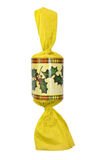 Yellow Christmas cracker Royalty Free Stock Images