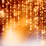 Yellow  christmas lights background Royalty Free Stock Photo