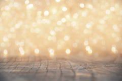 Yellow Christmas lights blur Royalty Free Stock Photo