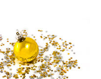 Yellow christmas-tree decorations Royalty Free Stock Photography