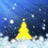 Yellow christmas tree Stock Images