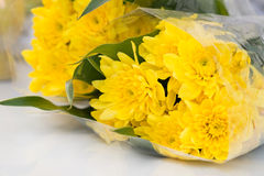 Yellow chrysanthemum flower bouquet Stock Photography