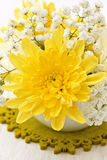 Yellow chrysanthemum Stock Images