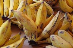 Yellow chunky  ripe bananas Stock Photo