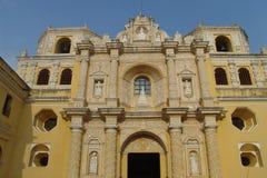 Yellow Church. A yellow colonial church in Antigua, Guatemala Stock Photos