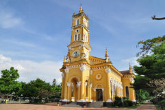 Yellow church in Ayutthaya, Thailand Stock Images