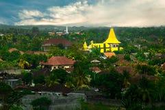 Yellow church in Bali Royalty Free Stock Photo
