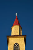 Yellow Church in the Chilean Lake District Royalty Free Stock Images