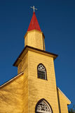 Yellow Church in the Chilean Lake District Royalty Free Stock Photography
