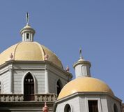 Yellow Church Cupolas Royalty Free Stock Image