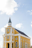 Yellow Church in Curacao Royalty Free Stock Photography