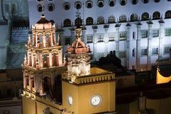 Yellow church in guanajuato, mexico Stock Photography