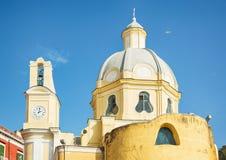 Yellow church in Italy. Royalty Free Stock Photo