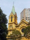 Yellow church Stock Image
