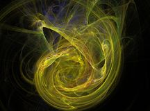 Yellow circle abstract fractal effect light background Royalty Free Stock Photo