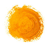 The yellow circle paint strokes Stock Photo