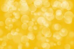 Yellow circle shape boke background Stock Photography