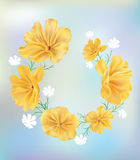 Yellow circle. This is vector Illustration of flower Stock Images