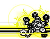 Yellow circles Royalty Free Stock Images