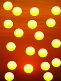 Yellow circles Stock Photography