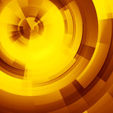 Yellow circles of rectangular Stock Photo