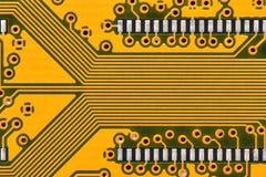 Yellow circuit board Stock Photo