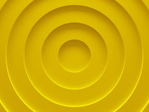 Yellow circular abstract background picture. 3D illustration. This image works good for text and website background, print and mobile application Stock Images