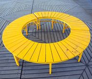 Yellow Circular Bench Royalty Free Stock Photo