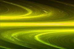 Yellow circular glow wave. lighting effect abstract background. Stock Image