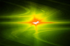 Yellow circular glow wave. lighting effect abstract background. Royalty Free Stock Photos