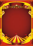 Yellow circus with big top stock illustration