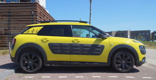 Yellow Citroën C4 Cactus Stock Photo