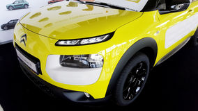Yellow citroen cactus car -close up Stock Photography