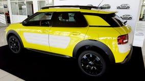 Yellow citroen cactus car Royalty Free Stock Image