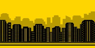Yellow city backdrop Royalty Free Stock Photo