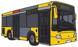 Yellow city bus Royalty Free Stock Image