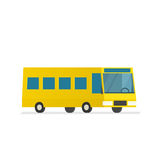 Yellow city bus Royalty Free Stock Images