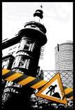 Yellow City Sign. Vector Illustration Royalty Free Stock Photos