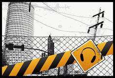 Yellow City Sign. Vector Illustration Royalty Free Stock Image