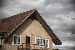 Yellow classic house, pai, maehongson, thailand Stock Image