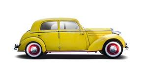 Yellow classic Mercedes 170S stock photos